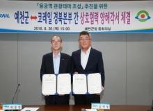 [예천]예천 용궁역 관광테마 조성 추진을 위한 상호협력 양해각서 체결